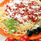 spaghetti with tomatoes cheese and sauce - PhotoDune Item for Sale