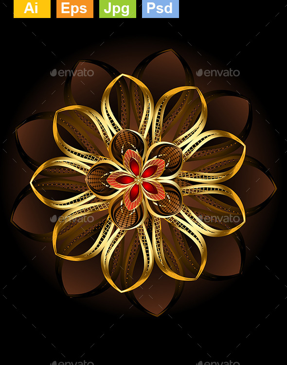 GraphicRiver Abstract Brown Flower 9115252