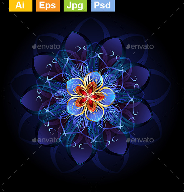 GraphicRiver Abstract Dark Flower 9115303