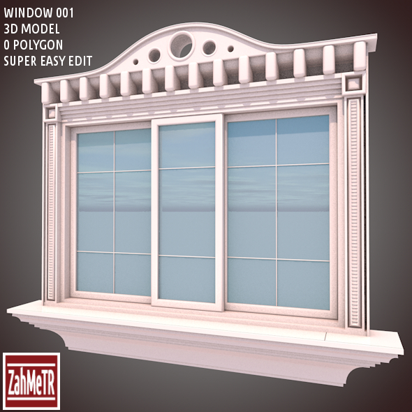 3DOcean Window 001 3D Model 9115310