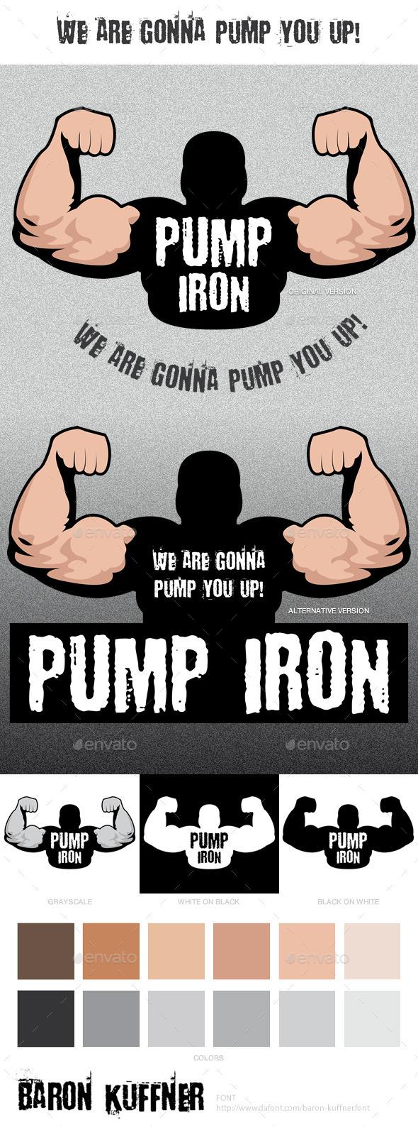 GraphicRiver Pump Iron Logo Template 9090765