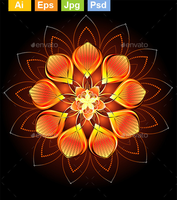 GraphicRiver Abstract Orange Flower 9115425