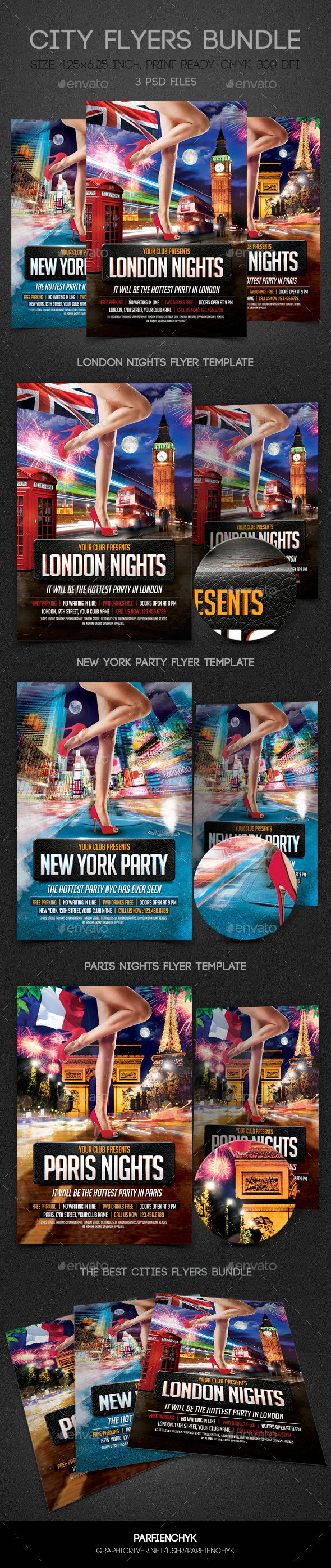 GraphicRiver City Flyers Bundle 9115524