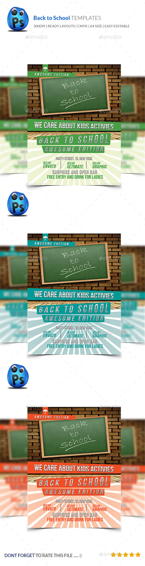 GraphicRiver Back to School Flyer Template 9115610