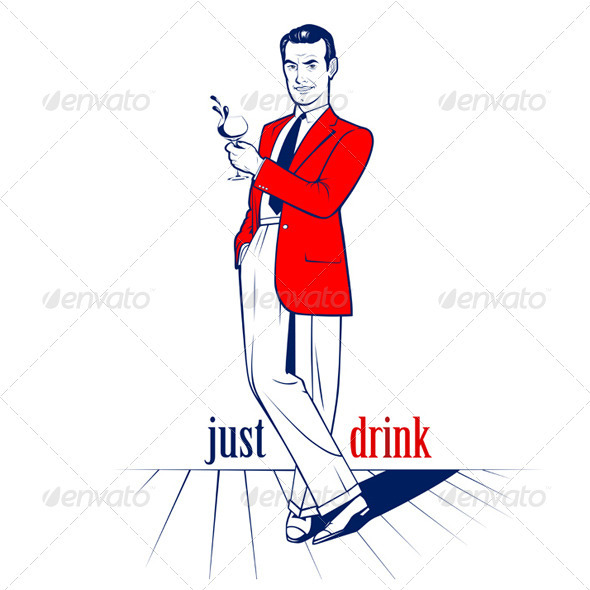 GraphicRiver Cocktail Drink Man 782609