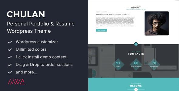 ThemeForest Chulan Personal Portfolio & Resume Theme 9115649