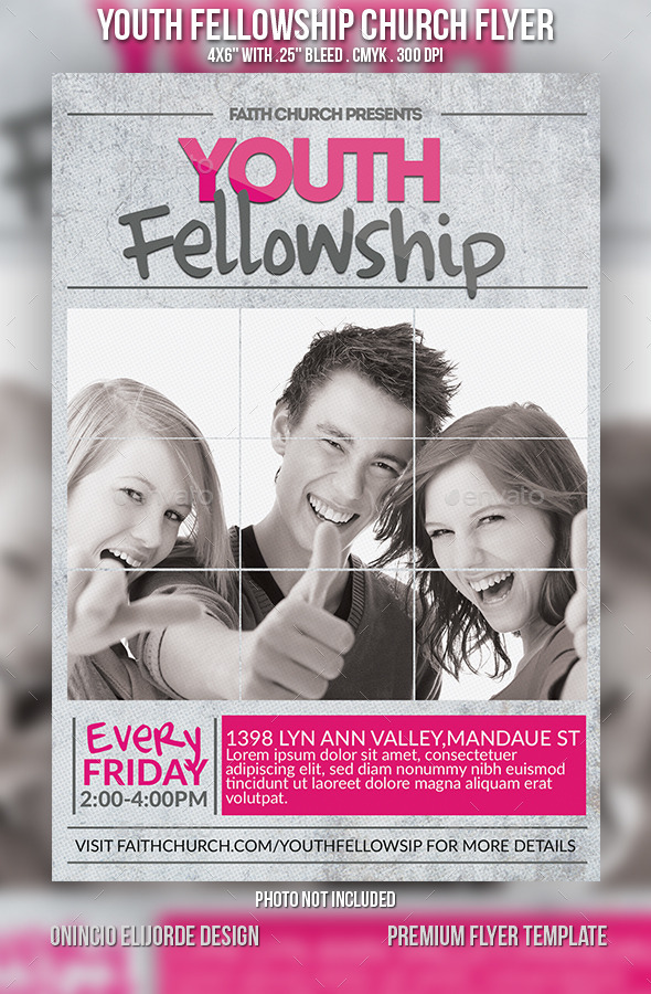 GraphicRiver Youth Fellowship Church Flyer 9115749