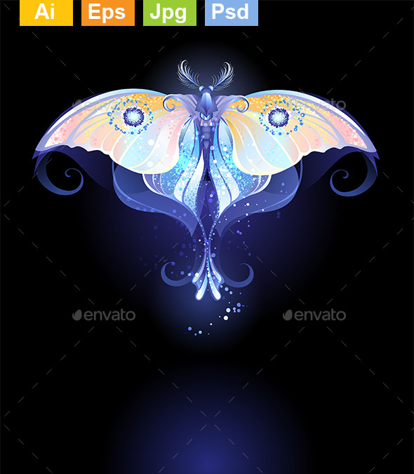 GraphicRiver Glowing Butterfly 9115782