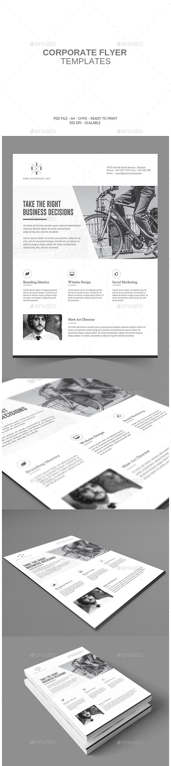 GraphicRiver Minimalistic Corporate Flyer 9116049