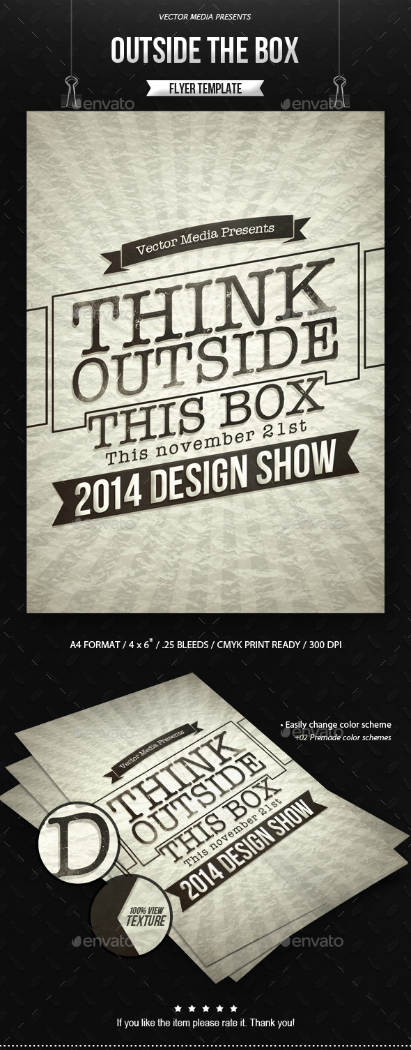 GraphicRiver Outside The Box Flyer 9116411