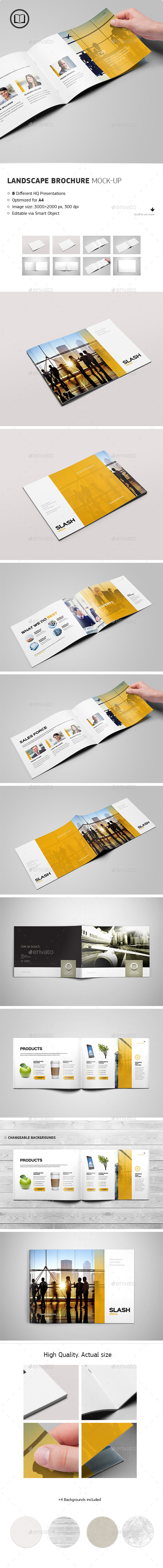 GraphicRiver Landscape Brochure Catalog Mock-Up 9116843