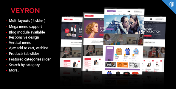 ThemeForest Veyron Multipurpose Responsive Magento Theme 9117158