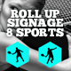 Roll Up Banners Signage - Sports - GraphicRiver Item for Sale
