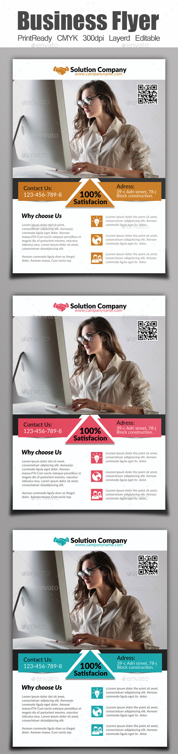 GraphicRiver A4 Business Flyer 9117198