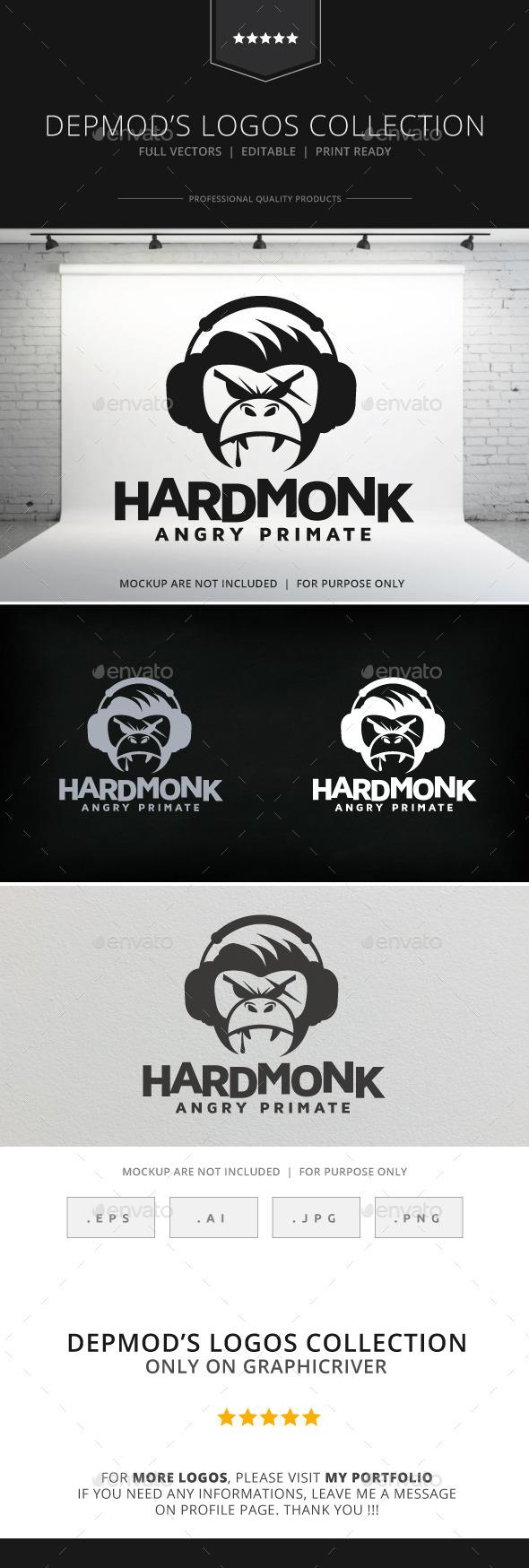 GraphicRiver Hard Monk Logo 9117490