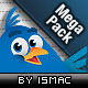 Twitter Mega Pack 48 Icons &Web Elements