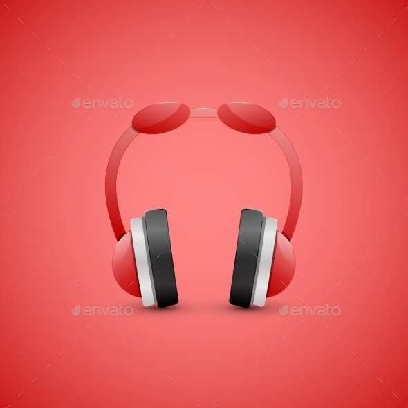 GraphicRiver Headphones Illustration Graphic Concept 9117513
