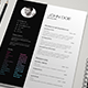 B&W Resume - GraphicRiver Item for Sale