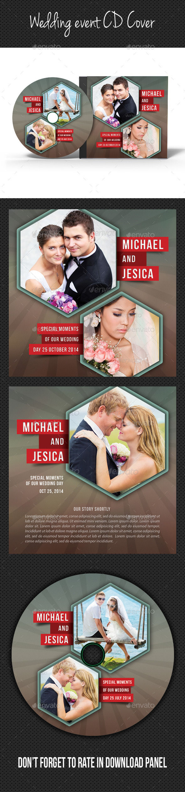 GraphicRiver Wedding Event CD Cover V01 9097831