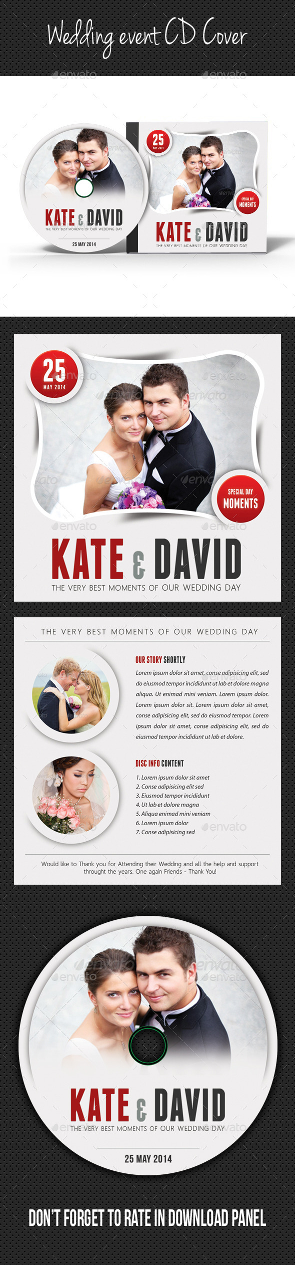 GraphicRiver Wedding Event CD Cover V02 9099141
