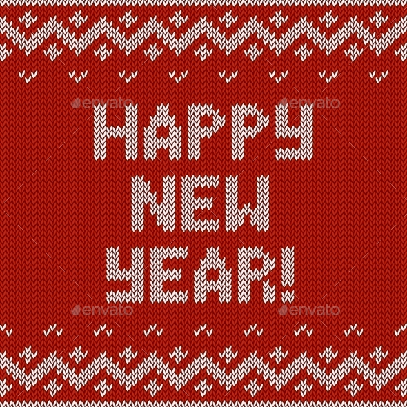 GraphicRiver Card of Happy New Year 2015 with Knitted Texture 9117736