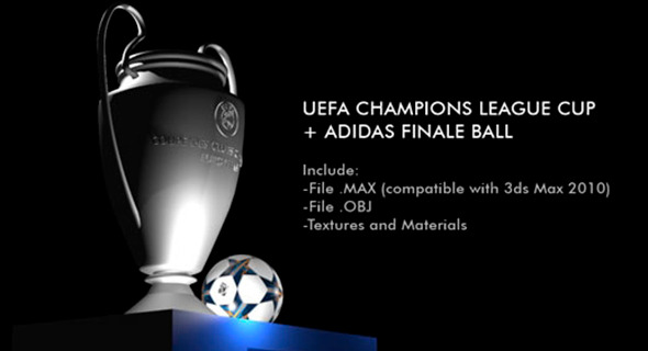 3DOcean Champions League Cup & Adidas Finale Ball 9117773