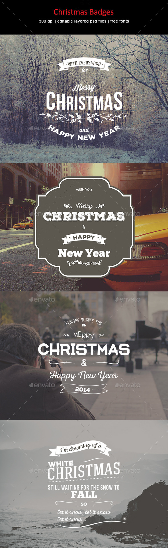 GraphicRiver Christmas Badges 9117774