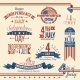 American Independence Day Label Set - GraphicRiver Item for Sale