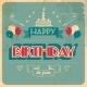 Vintage Birthday Card - GraphicRiver Item for Sale