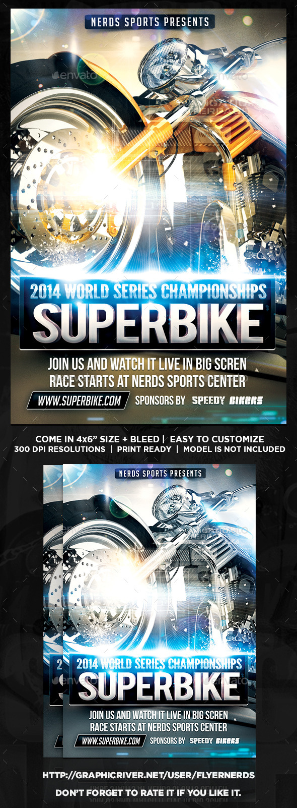 GraphicRiver Superbike Series Flyer 9087606