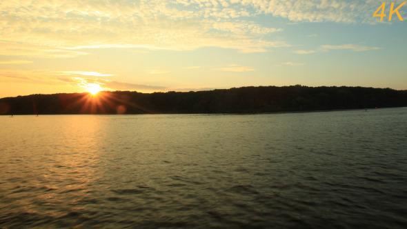Sunset Seen On The Seashore