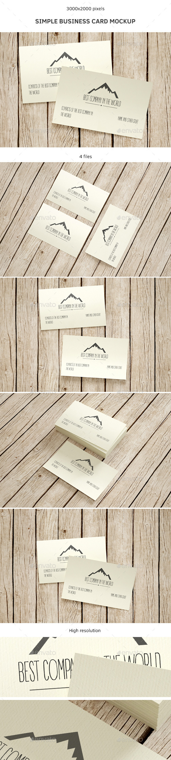 GraphicRiver Simple Business Card Mockup 9118657