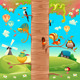 Animals on Branches - GraphicRiver Item for Sale