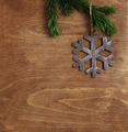 christmas wooden background with snowflake - PhotoDune Item for Sale