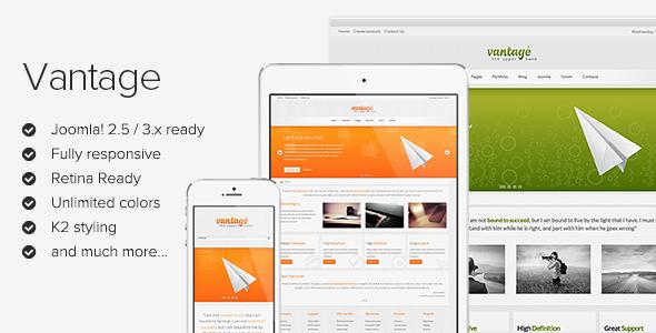 Vantage - Responsive Joomla Template - Screenshot 01 - Vantage Responsive Joomla Theme
