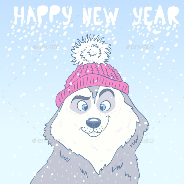 GraphicRiver Husky New Year 9119248