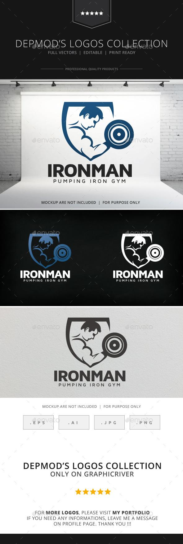 GraphicRiver Iron Man Logo 9119264