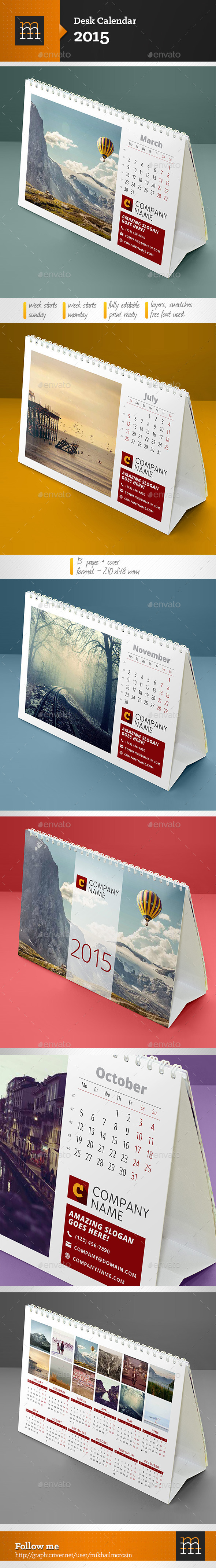 GraphicRiver Desk Calendar 2015 9119277