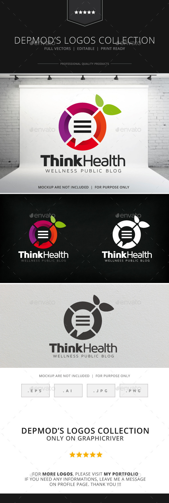 GraphicRiver Think Health Logo 9119309