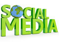 3d word social media on white background - PhotoDune Item for Sale