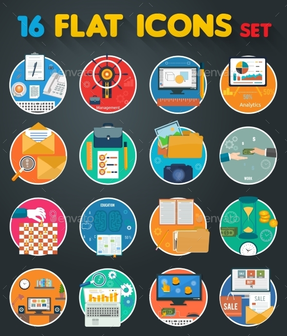 GraphicRiver Office Items Icons 9119977