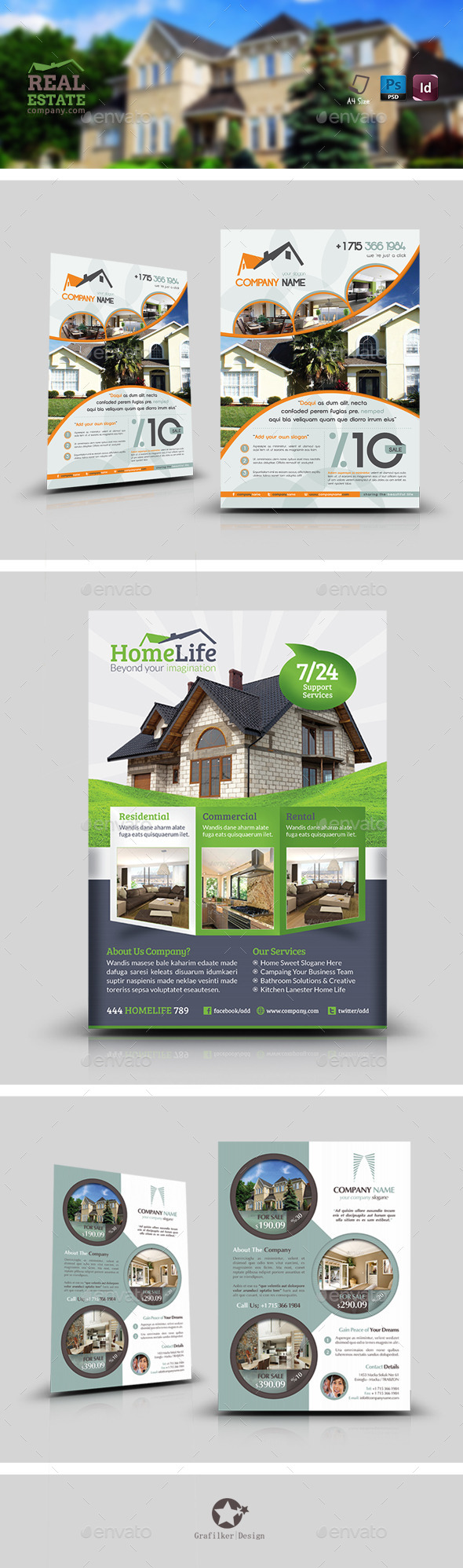GraphicRiver Real Estate Flyer Bundle Templates 9120019