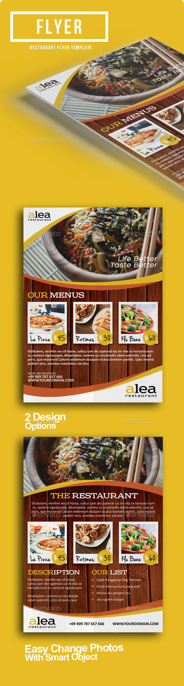 GraphicRiver Alea Restaurant Flyer 9095933