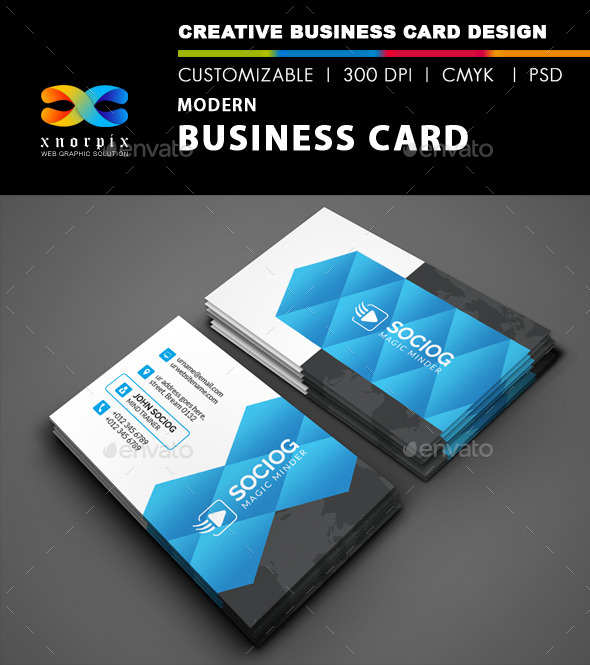 GraphicRiver Modern Business Card 9120109
