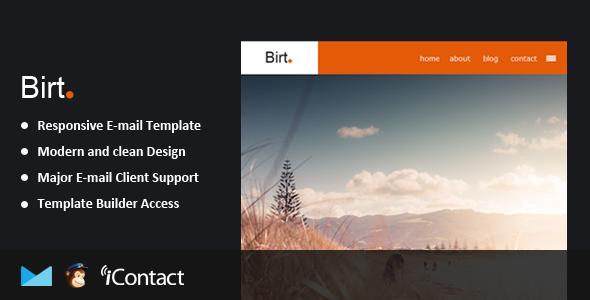 ThemeForest Birt Responsive Email & Themebuilder Access 9120135