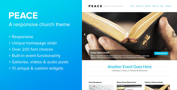 Peace - A WordPress Theme for Churches