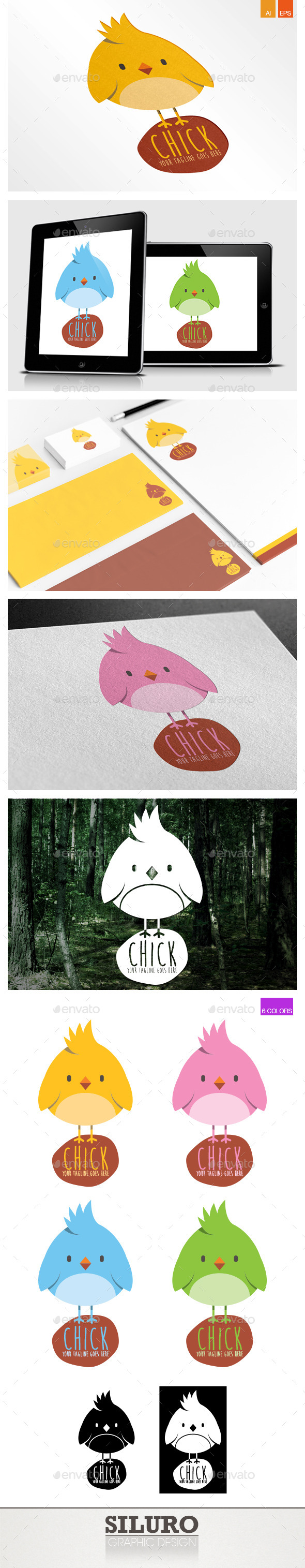 GraphicRiver Chick Logo 9120302