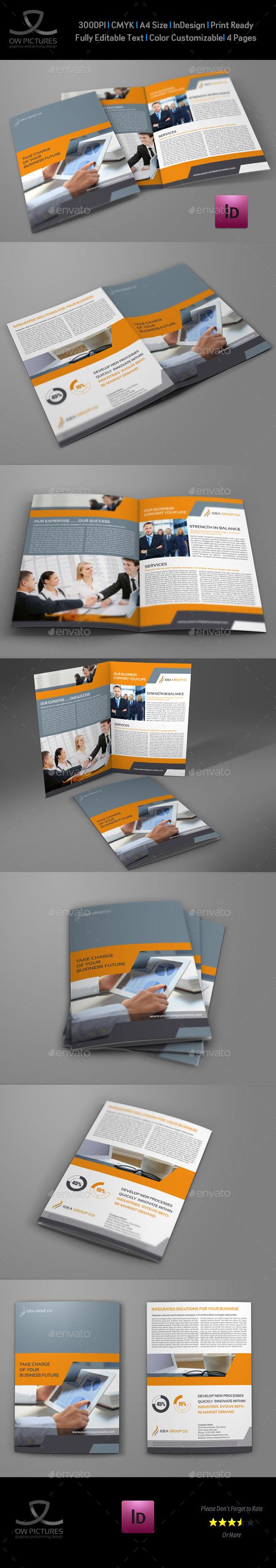 GraphicRiver Company Brochure Bi-Fold Template Vol.34 9120536