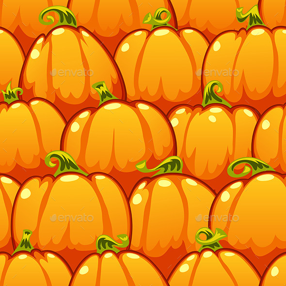 GraphicRiver Pumpkins Seamless Pattern 9109444