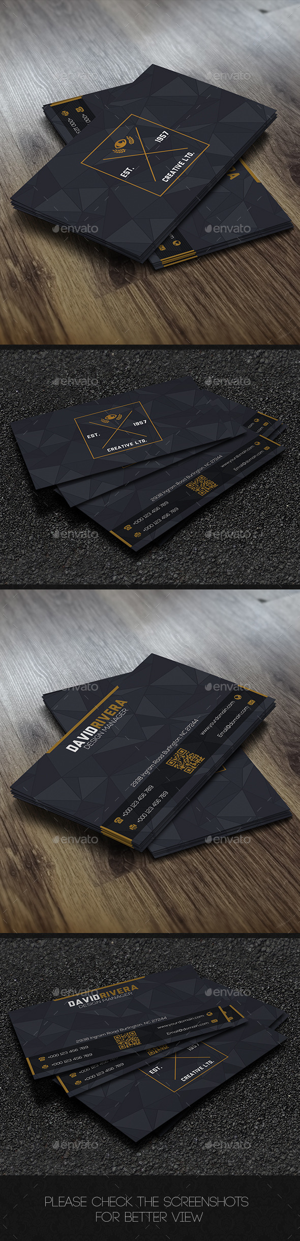 GraphicRiver Grey Corporate Business Card 9120603